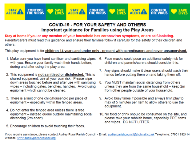 This sets out the rules which must be abide by.  Please see page Covid-19 for alternative text example
